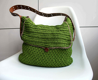 ravelry: leather handle carry all crochet purse 178 pattern by luz mendoza fqgvhbq