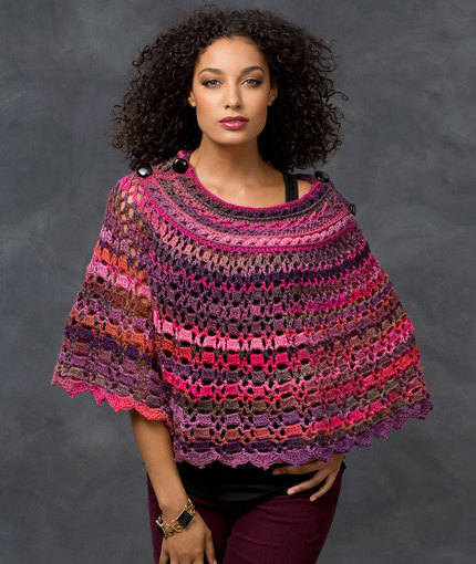 Red Heart Crochet Patterns dubonnet poncho | red heart ebwxeib
