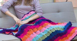 Red Heart Crochet Patterns rainbow view throw free crochet pattern lw3973 vkzxmwk