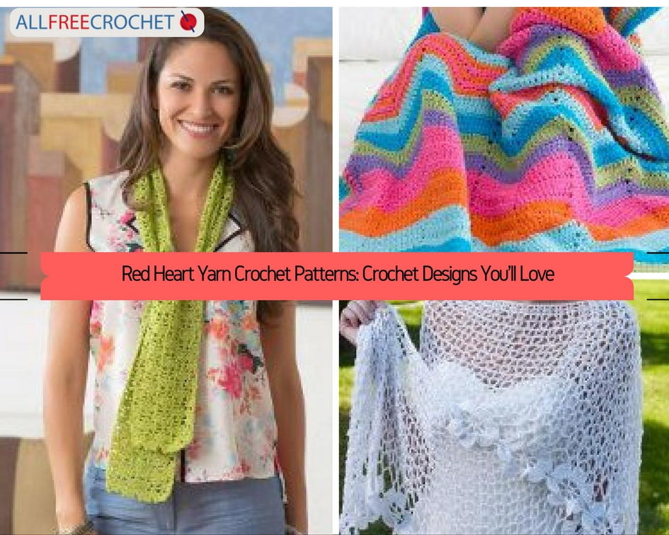 Red Heart Crochet Patterns red heart yarn crochet patterns: crochet designs youu0027ll love |  allfreecrochet.com cioqlxp