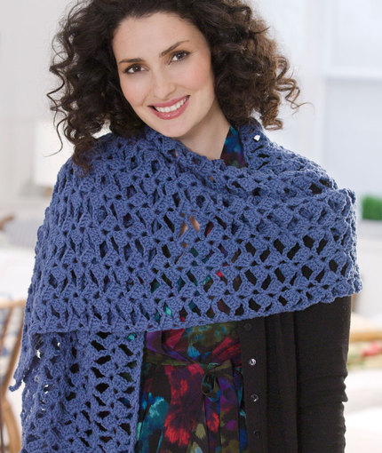 Red Heart Crochet Patterns romantic lacy shawl | red heart xisszhc