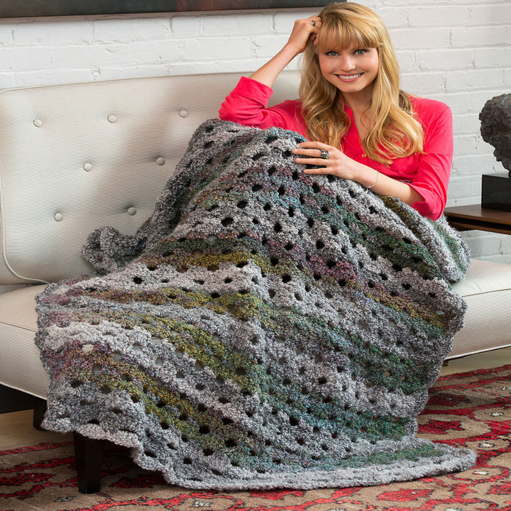 Red Heart Crochet Patterns shaded greys throw hwrhoyb