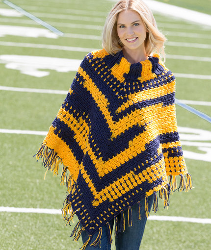 Red Heart Crochet Patterns sporty crochet poncho tihhhxt