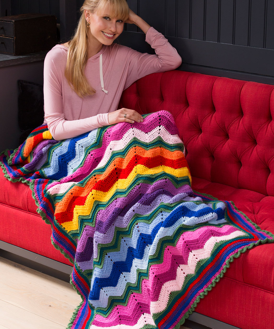 Red Heart Crochet Patterns stunning rippling throw esektib