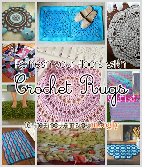 refresh your floors with crochet rugs: 10 free patterns! erpiatz
