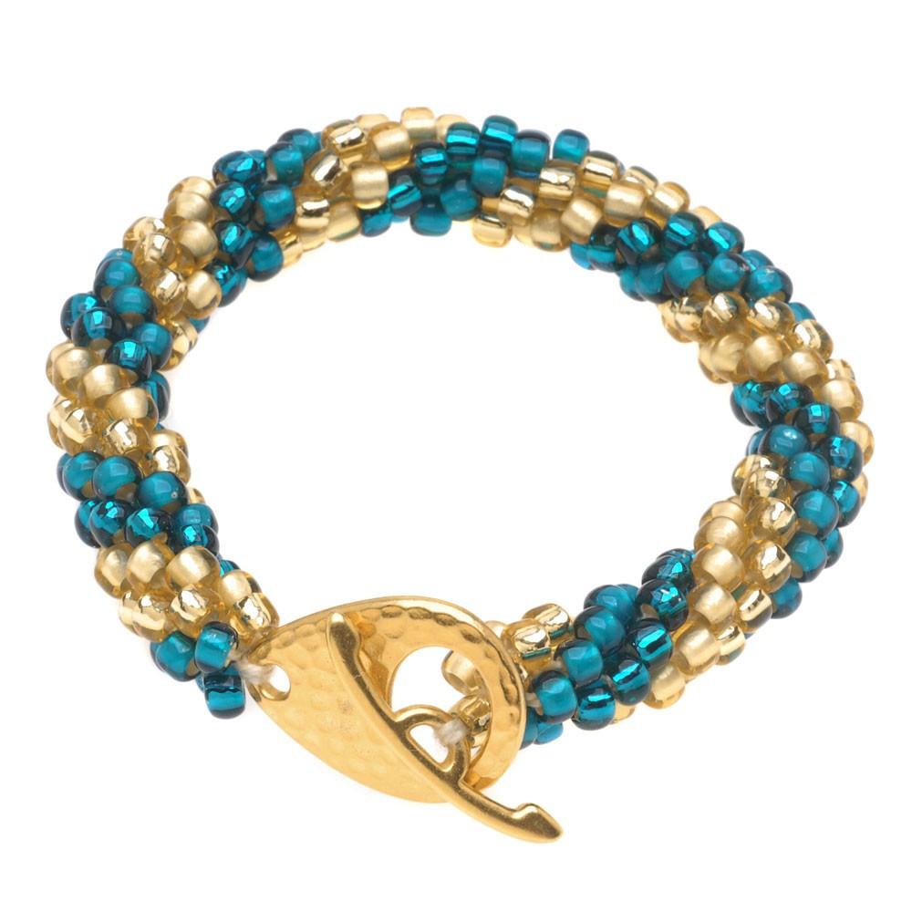 retired - spiral beaded crochet bracelet | beadaholique paphvbt