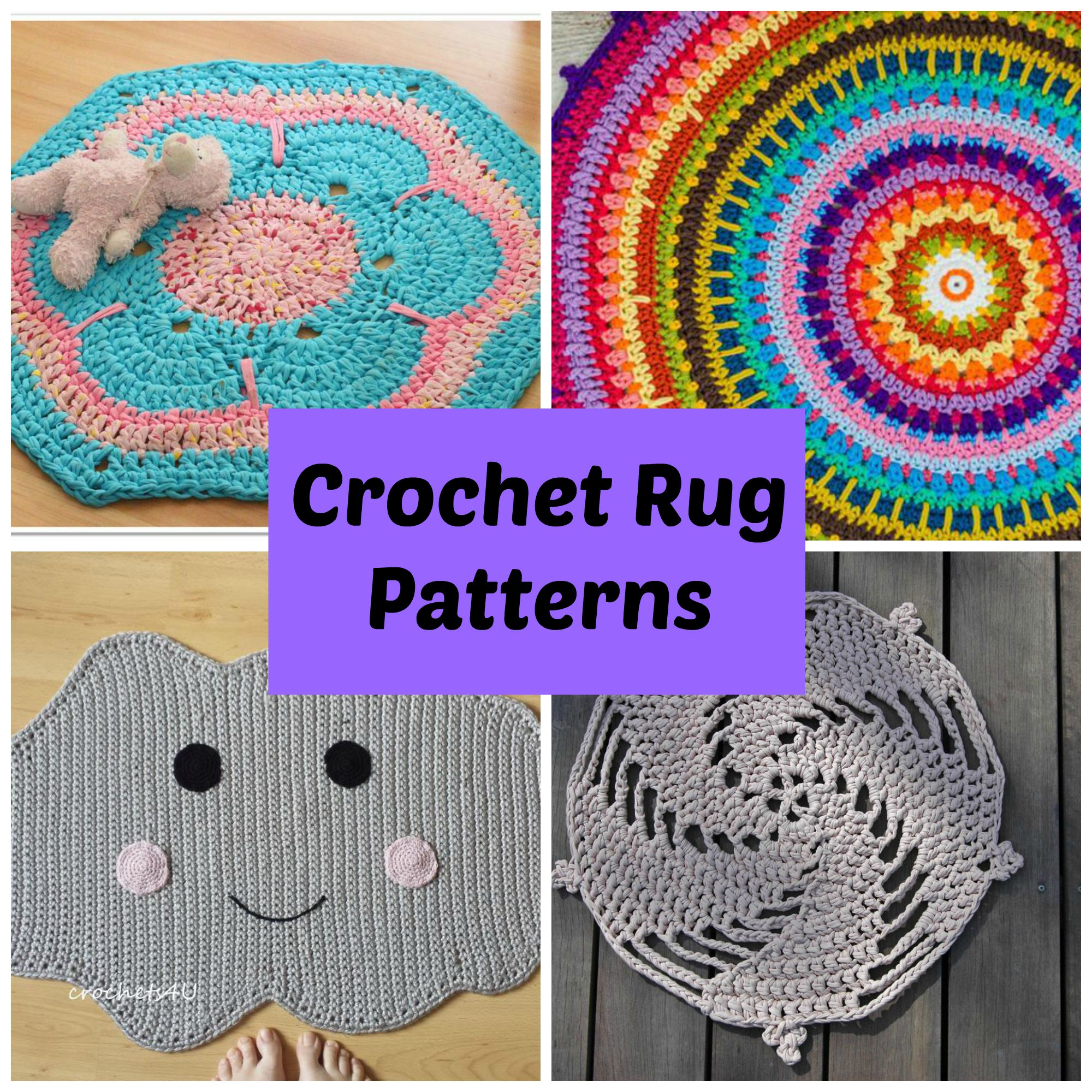 revive any room with 7 quick crochet rug patterns kloblmm