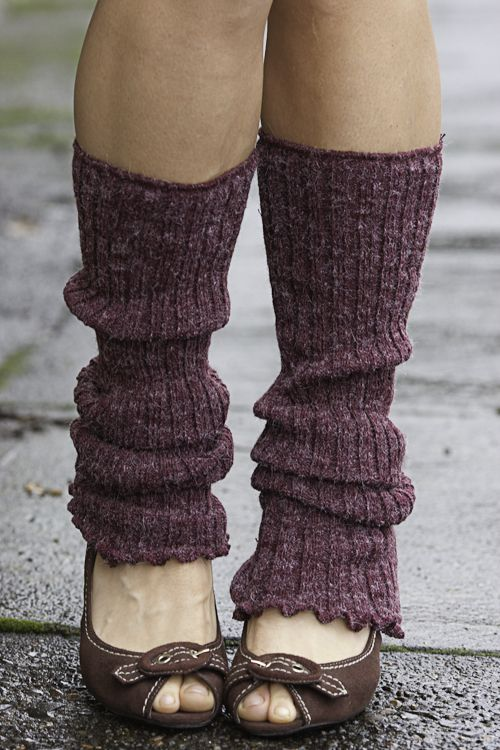 ribbed knit leg warmers vlidpun