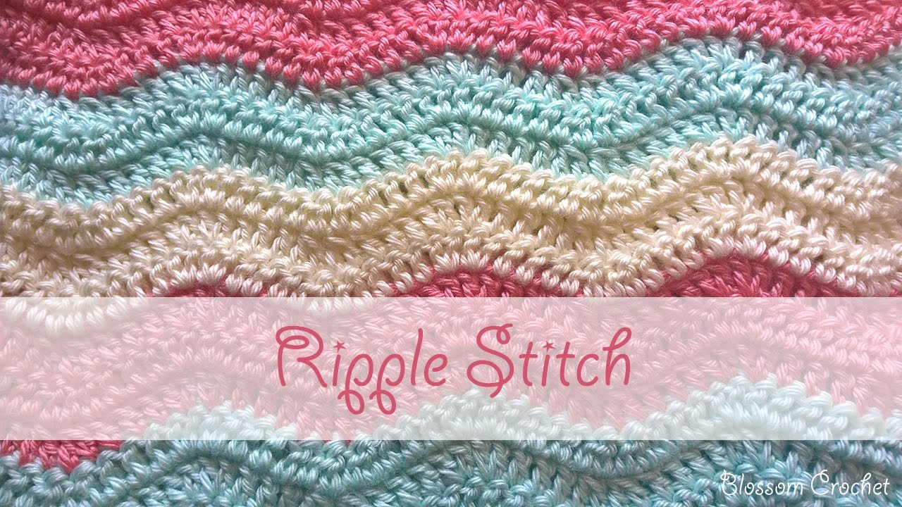 ripple crochet pattern simple ripple stitch crochet tutorial oixianq