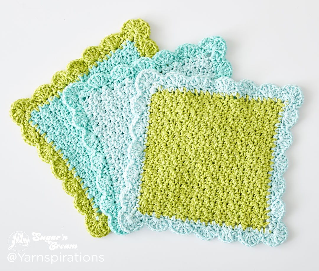 scalloped crochet dishcloth mtbmkod