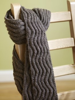 scarf knitting patterns meandering rib scarf in lion brand fishermenu0027s wool - 70809ad dfdvqwc