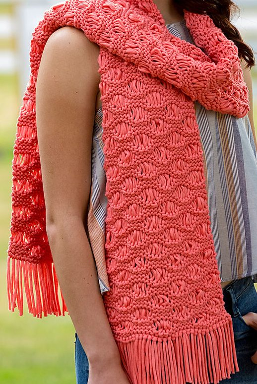 scarf patterns free knitting pattern for easy wavy drop-stitch scarf akclmfn