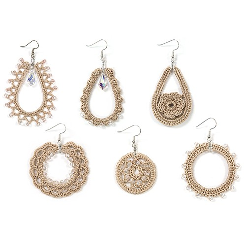set of beaded crochet earrings kzhtxwh