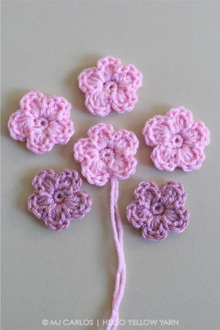 simple crochet flower pattern and tutorial gkmmhfj