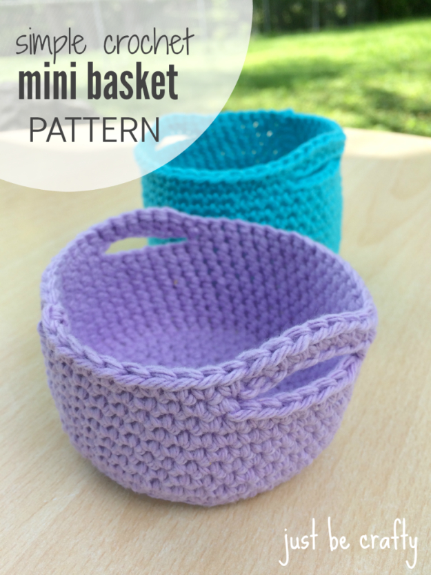 Simple Crochet Patterns 35 easy crochet patterns - simple crochet mini basket pattern - crochet jerdvql