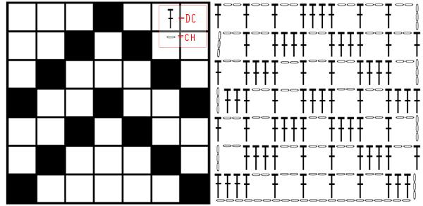 simple filet crochet chart design zxpehft