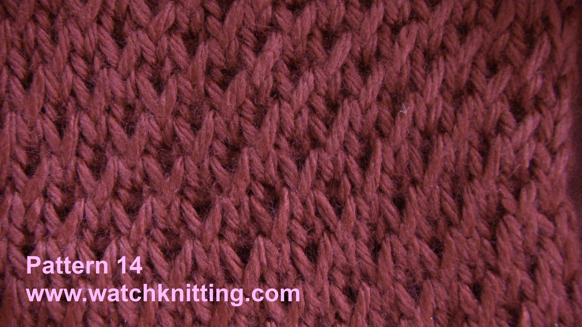 simple knitting patterns simulated brioche stitch - free knitting tutorial - watch knitting - pattern mkkczes