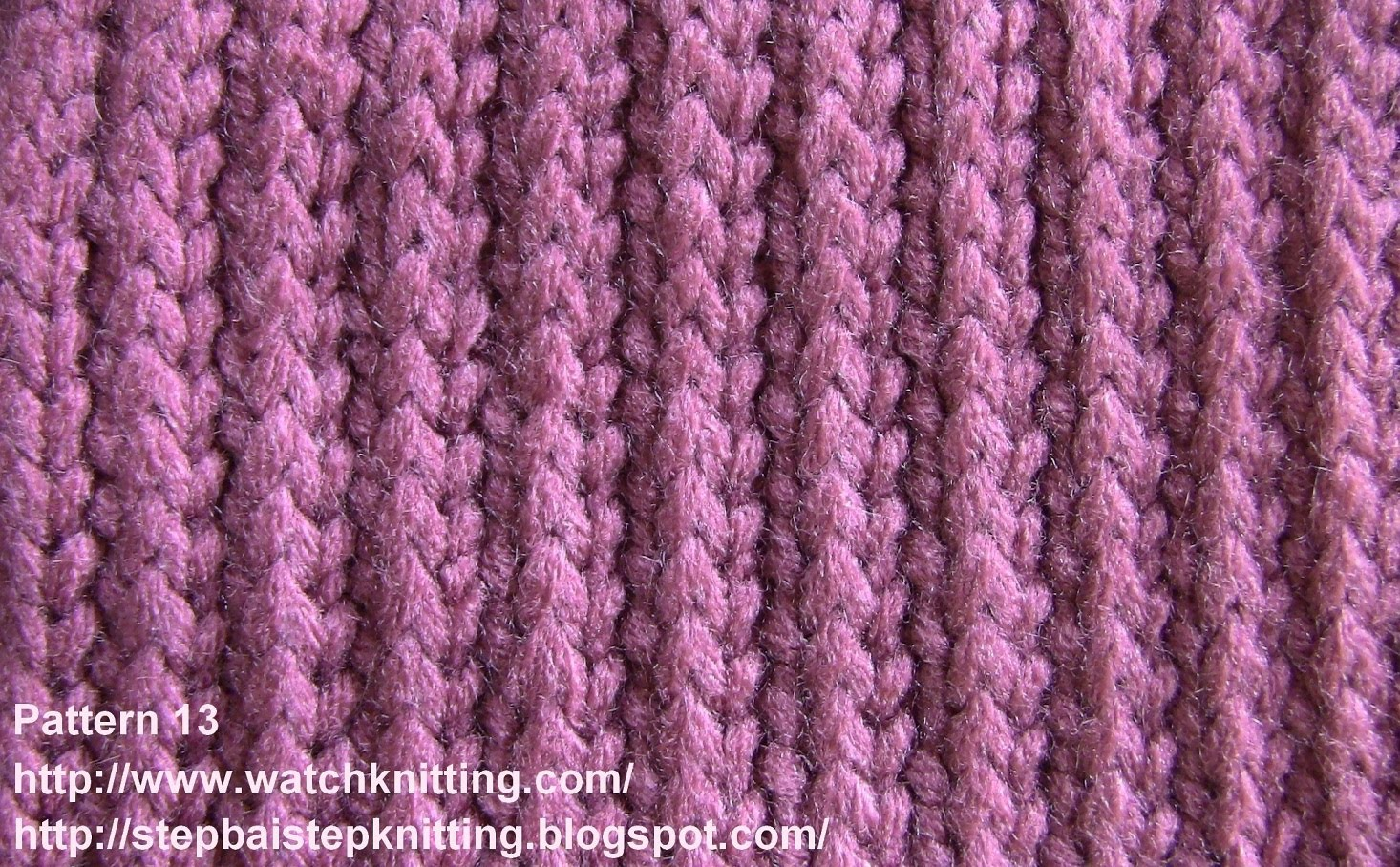 simple knitting patterns (stripe stitch) - free knitting tutorial - watch knitting - pattern 13 - isgbqnv