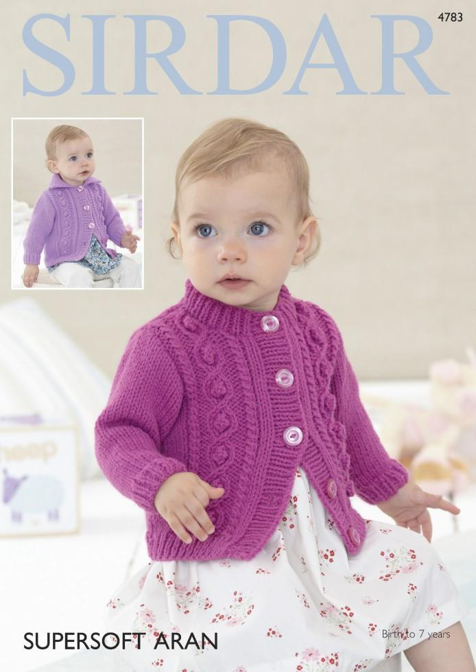 Sirdar Knitting Patterns sirdar baby u0026 girls cardigans supersoft aran knitting pattern 4783 hvajbwr
