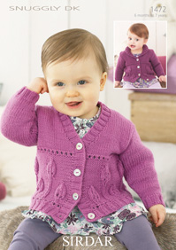 Sirdar Knitting Patterns sirdar snuggly dk - 1472 cardigans knitting pattern wtywkua
