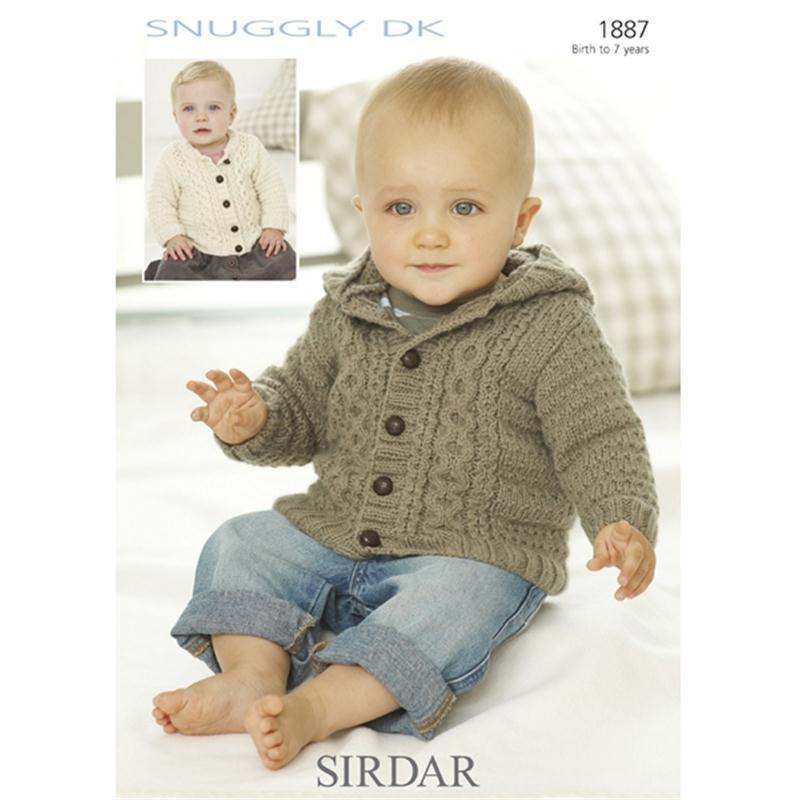 Sirdar Knitting Patterns sirdar snuggly dk boys cardigan pattern 1887 | hobbycraft vvdmlrb