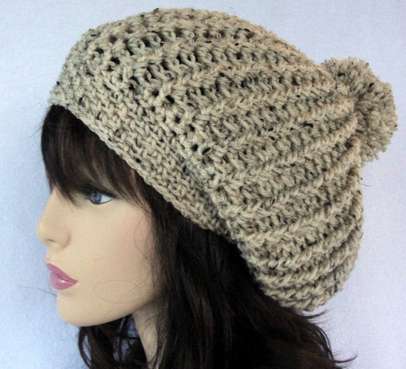 Slouchy beanie crochet pattern-Perfect for Beginners