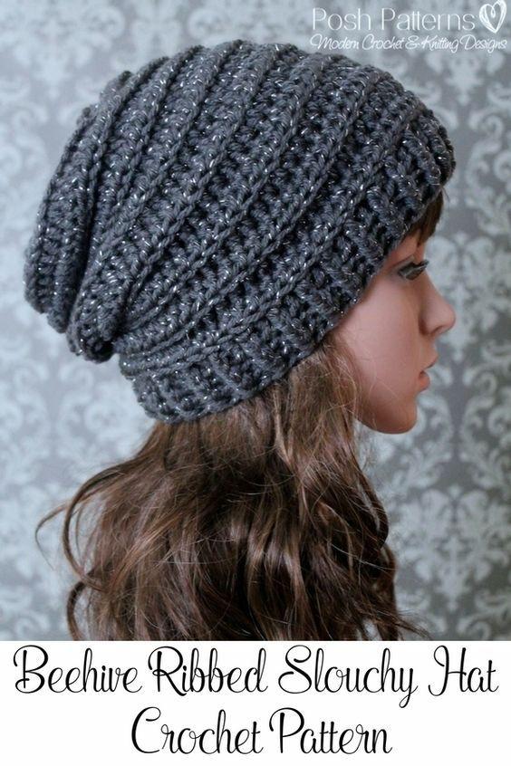 slouchy beanie crochet pattern crochet pattern - easy crochet pattern - crochet slouchy hat pattern - chtkiog