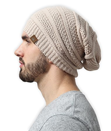 slouchy cable knit beanie by tough headwear - chunky, oversized slouch  beanie pmpfeyz