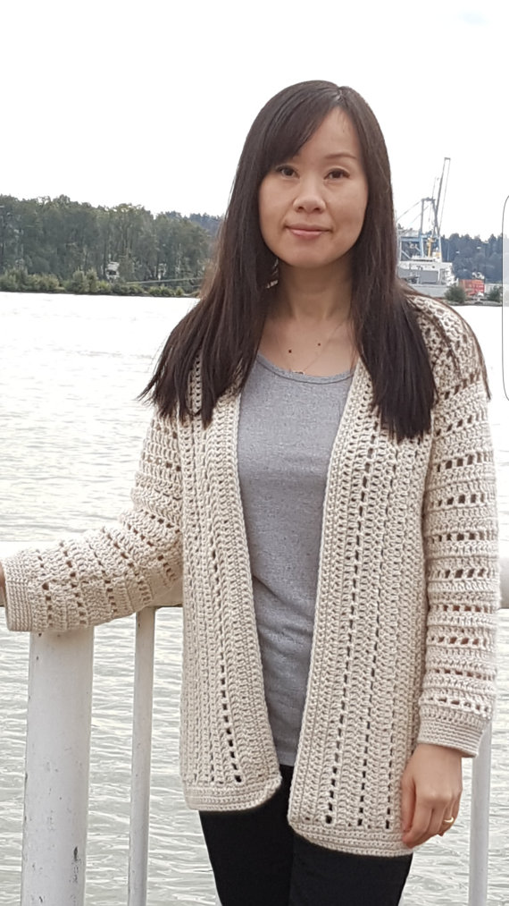 sporty one-piece crochet cardigan pattern bnxtskp