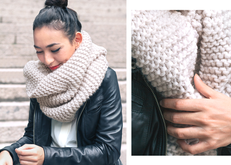 style trend chunky knit scarf uybigzp