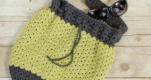 summer crochet bag pattern | www.petalstopicots.com | #crochet #pattern # ryotljx