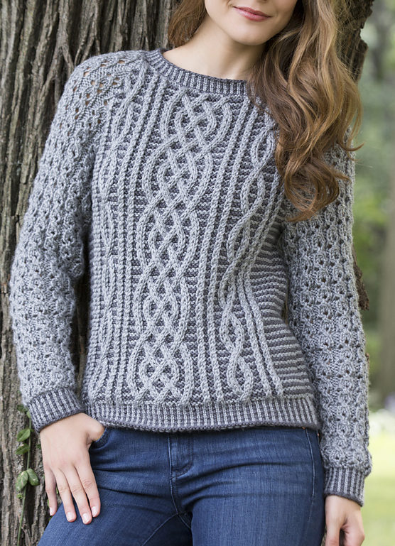 sweater patterns free knitting pattern for two tone cable sweater tnxudku