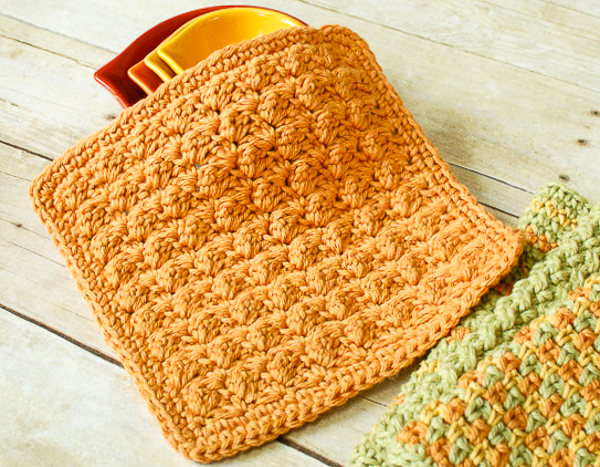 textured crochet dishcloth pattern vcurybi