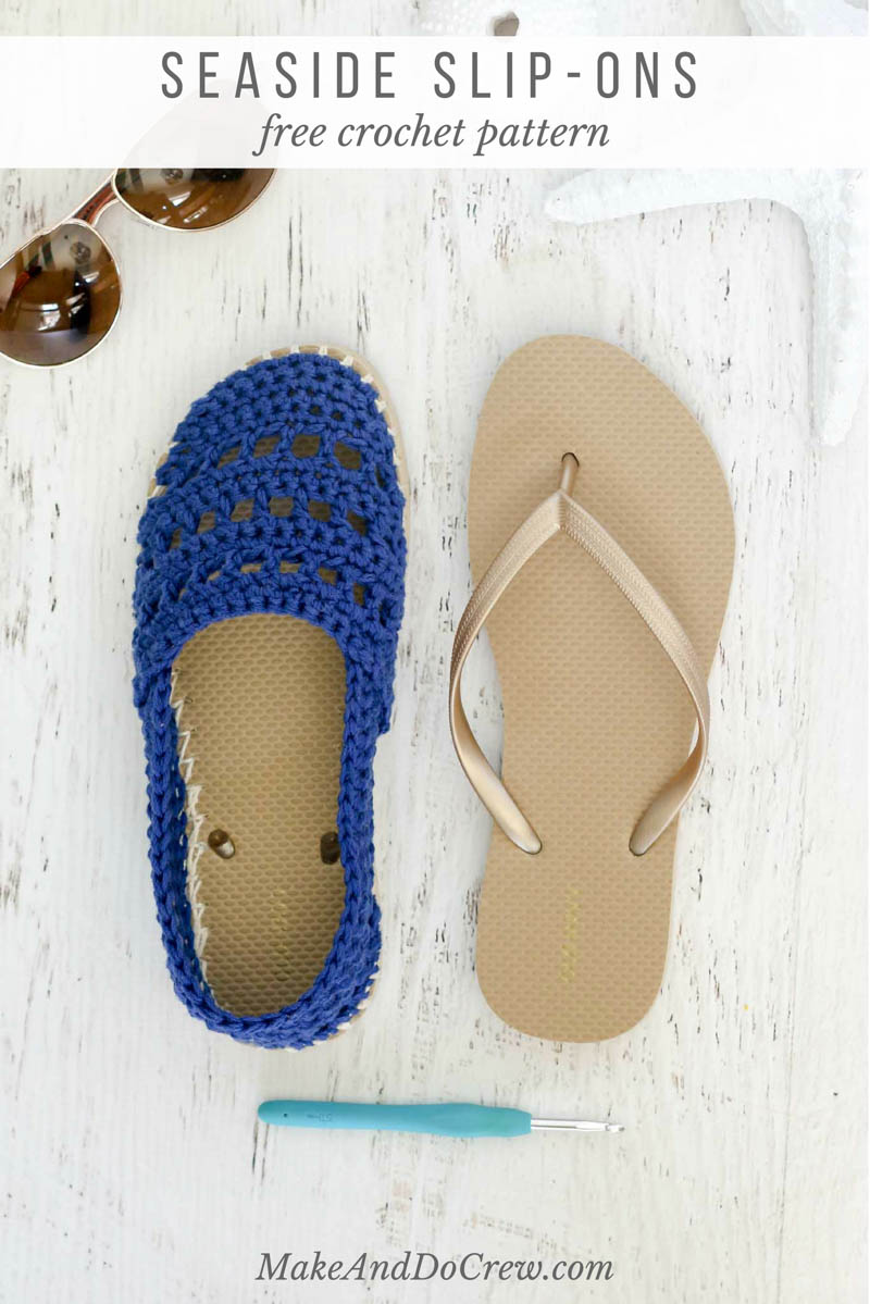 these seaside crochet shoes with rubber bottoms come together easily with  lion vqjfahx