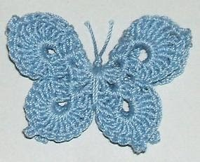 this beautiful crochet butterfly calls for a steel
