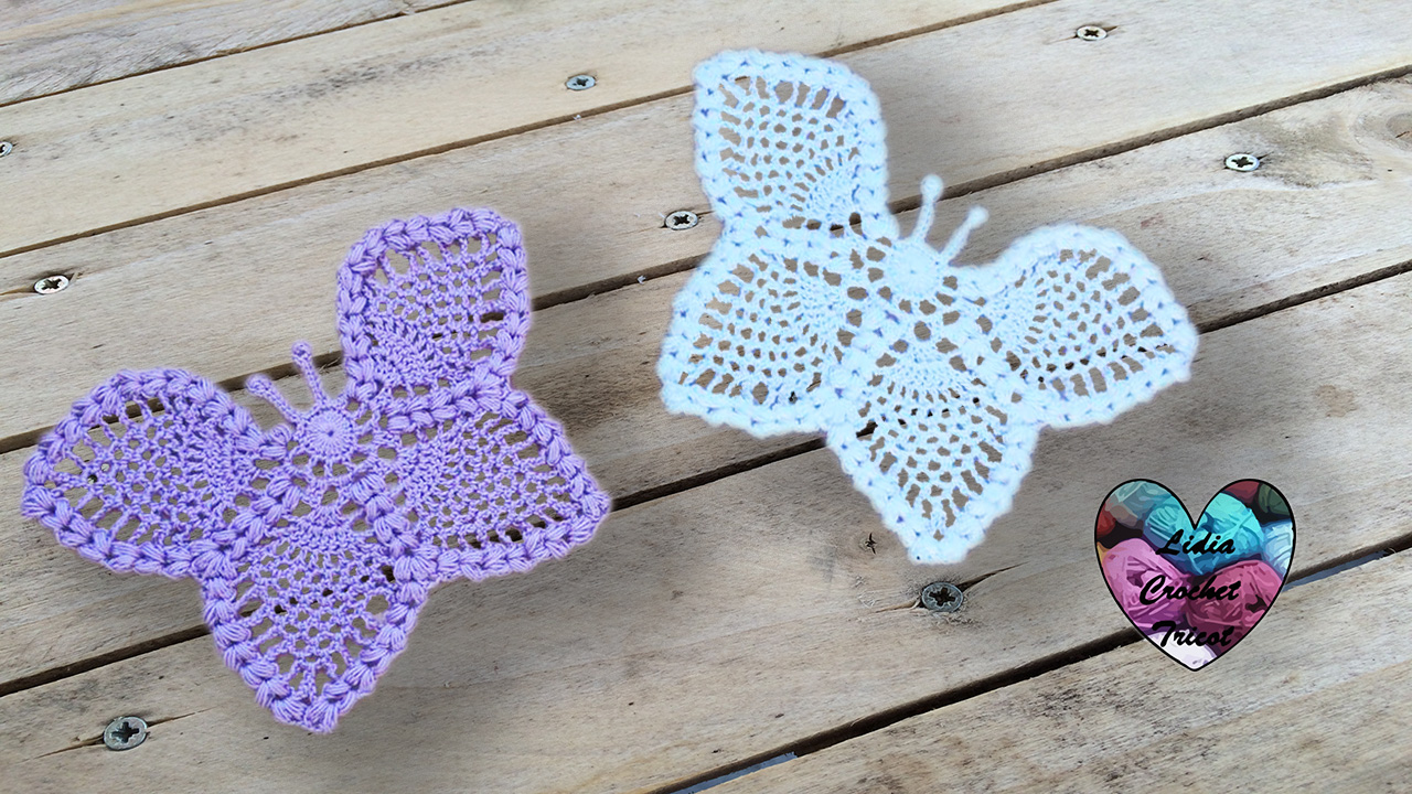 tricot crochet papillon napperon. cardigan motifs fleurs crochet diy lidia crochet tricot ogibspl
