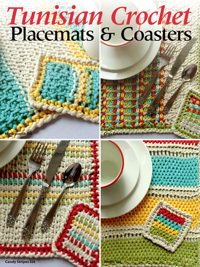 tunisian crochet patterns - tunisian crochet placemats u0026 coasters jpsmrgp