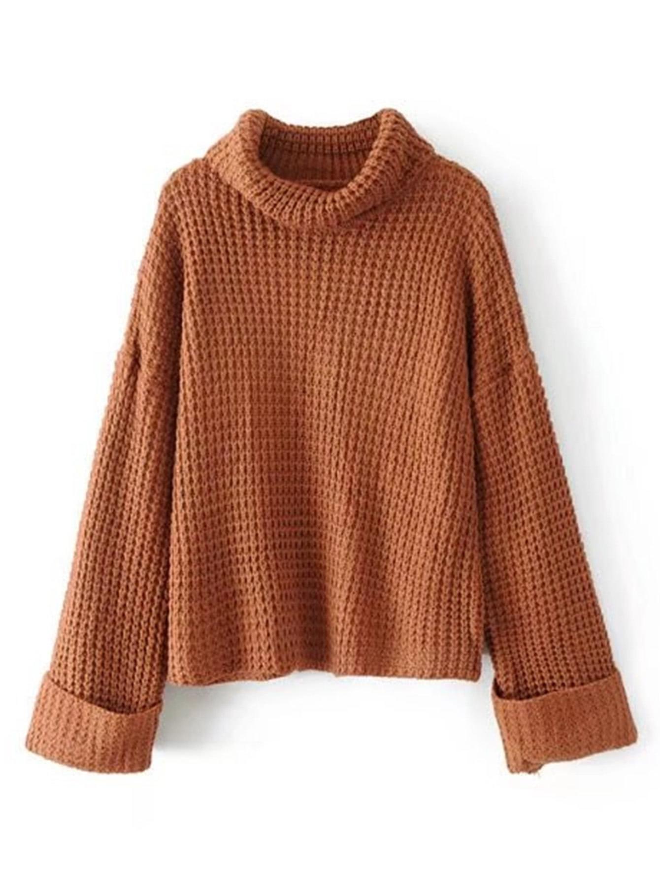 turtleneck waffle knit sweater iwfamfm