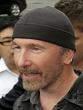 u2 guitarist the edge wearing a knit cap xockdzg