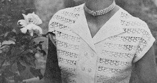vintage crochet patterns instant pdf crochet pattern 1950s vintage ladies beautiful lace blouse  lacey double rzdxeyq