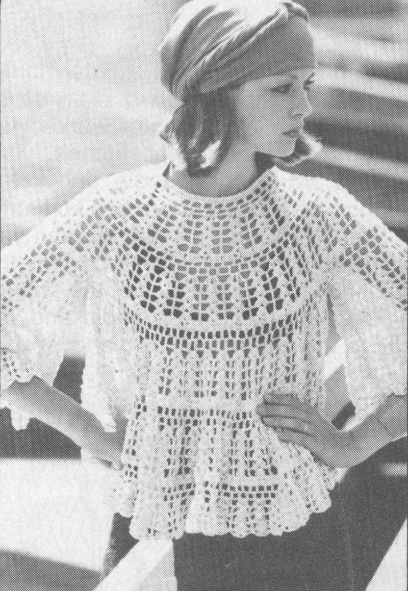 vintage crochet patterns pdf 7801 vintage 1970s crochet lacy cloud top pattern rpeoiuz