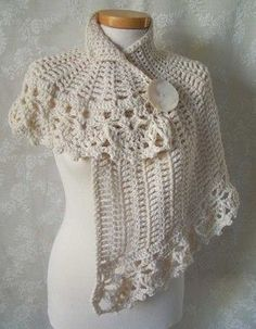 vintage crochet patterns white asymmetrical capelet crochet pattern pdf by berniolie ovjsrtw