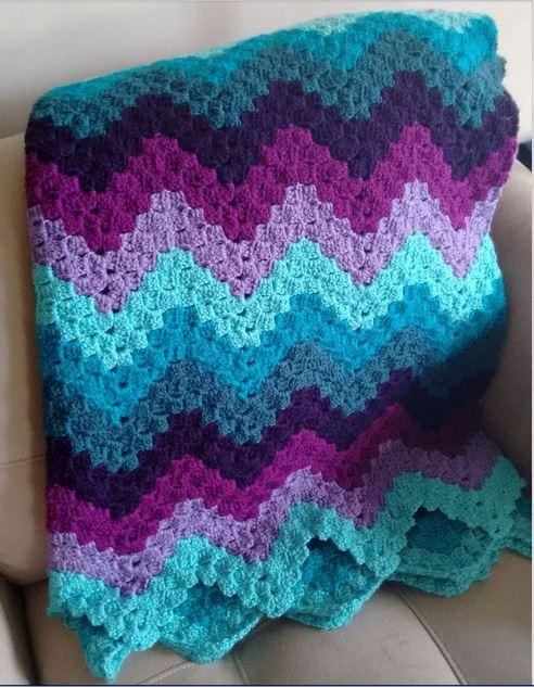 vintage ripple crochet pattern pntogde