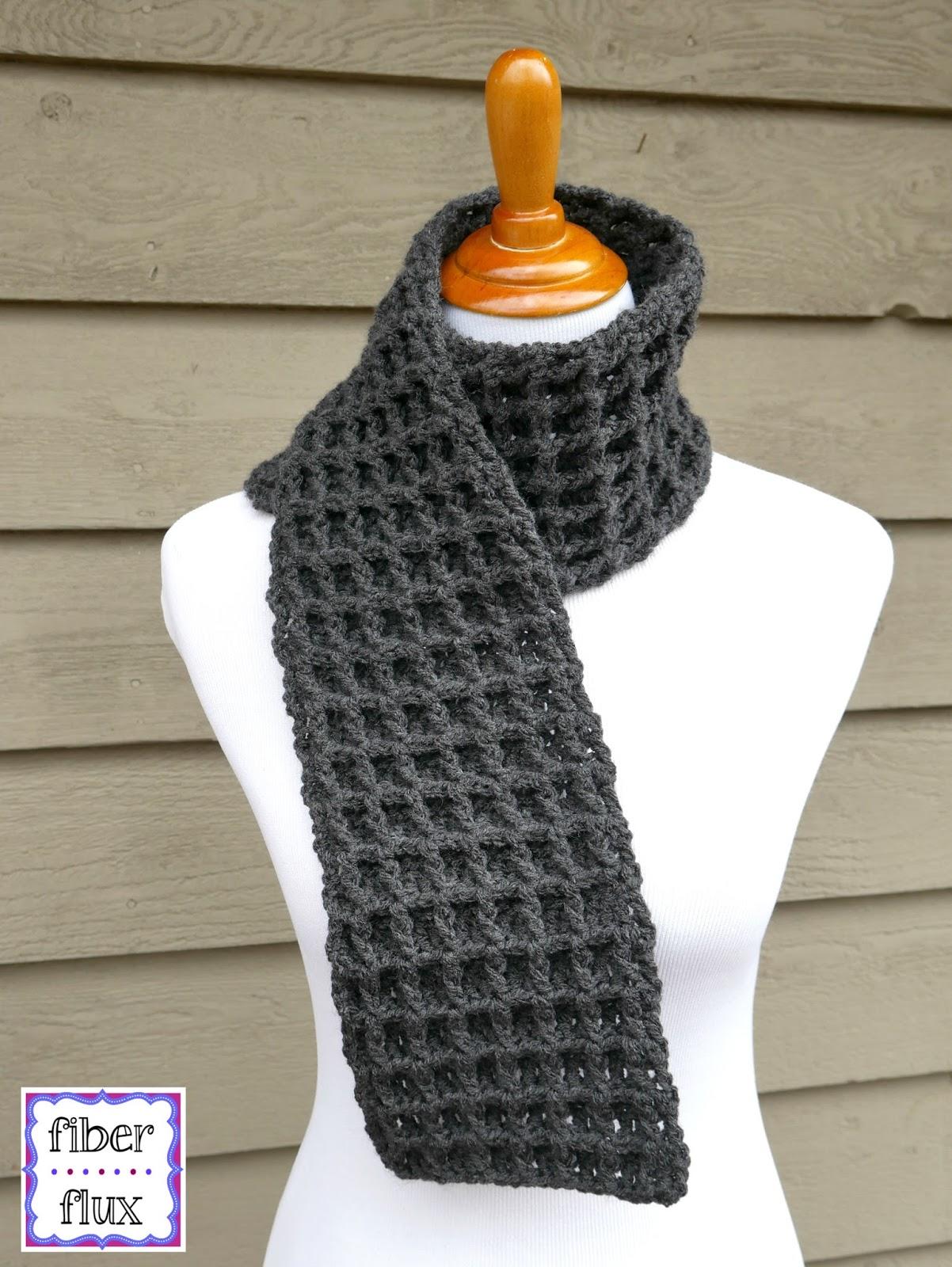 waffle stitch crochet scarf! clhigkd