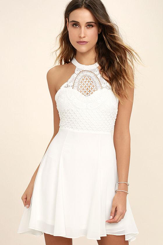 white crochet dress made in the crocheted white