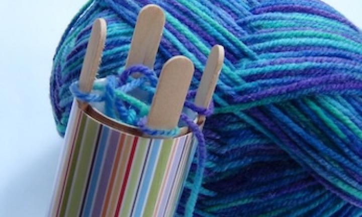 winter craft: make a french knitting machine zghraqk