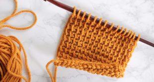 yellow tunisian crochet swatch with bumps qbepkyj