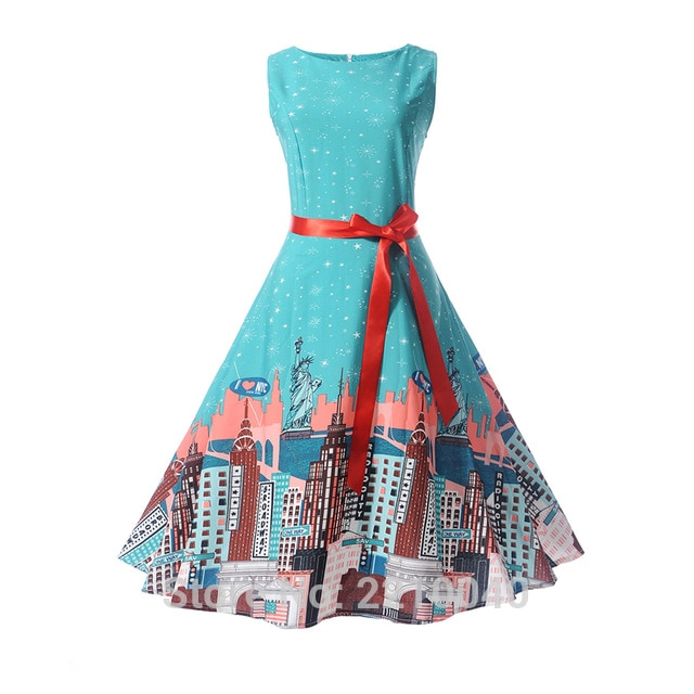 teenage girl dresses Audrey hepburn 1950s Retro style dress Vintage