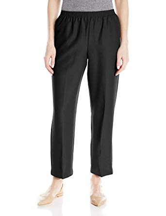 Alfred Dunner Women's Petite Poly Proportioned Short Pant at Amazon