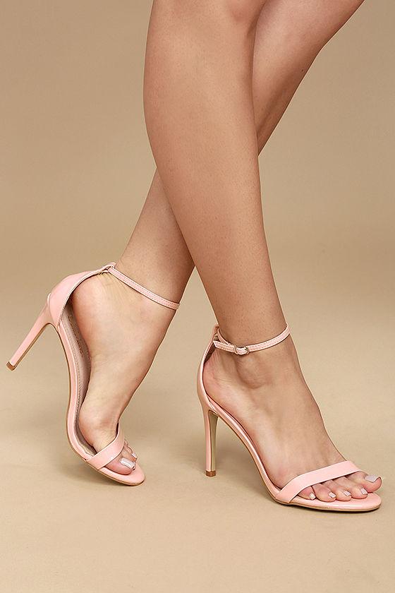 Sexy Pink Heels - Pink Single Sole Heels - Ankle Strap Heels - $24.00